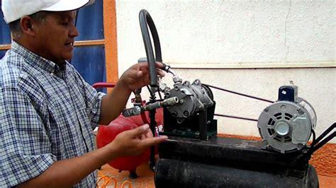 compresor de aire casero cuauhtemoc youtube