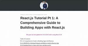 Learn Reactjs With 20 Free Online Tutorials