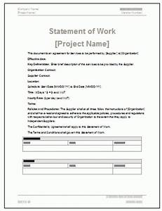 5 free statement of work templates word excel pdf for How to write a statement of work template