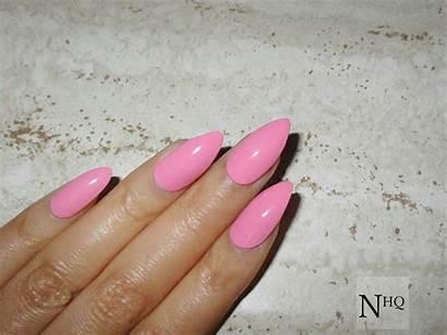 Nails Shapes Stiletto Acrylic Mix