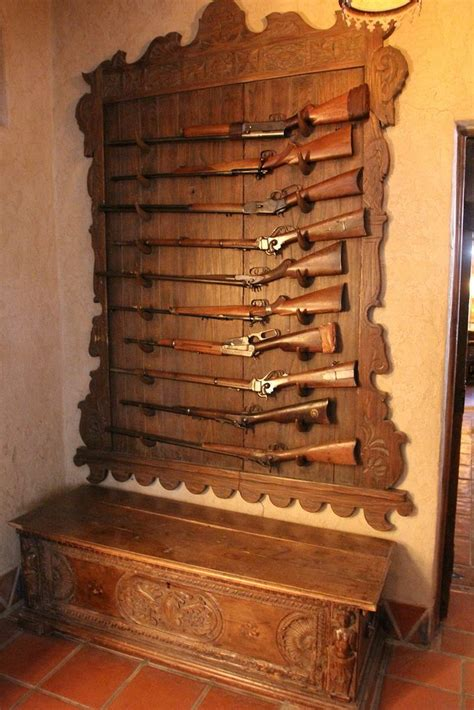 images  gun racks  pinterest pistols wall mount  deer