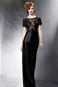 brillante robe de soiree pailletee avec bijoux au haut With robe marié avec bijoux soirée