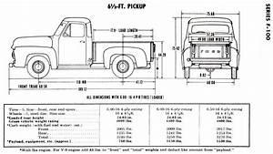 Ford F1 1951 Dimensions
