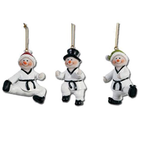 tae qan do christmas ornaments taekwondo snowmen ornament set taekwondo ornaments taekwondo ornament