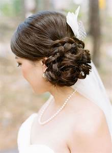 Side Swept Side wedding hair with veil