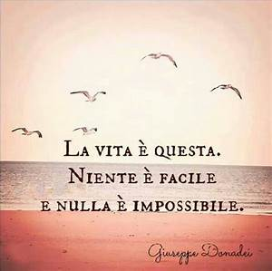 This is Life. Nothing is easy and nothing is impossible ...