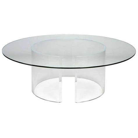 Round Acrylic Coffee Table  Design Decoration