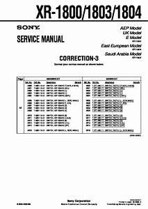 Sony Xr-1800  Xr-1803  Xr-1804 Service Manual