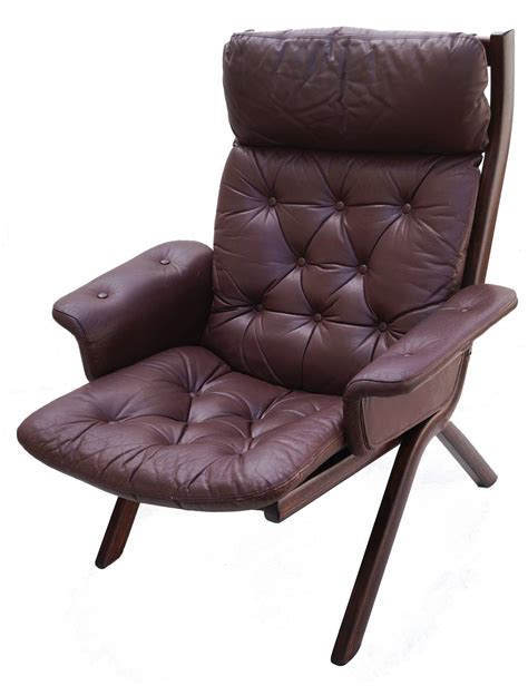 modern chair and ottoman danish modern leather sculptural sling lounge chair and