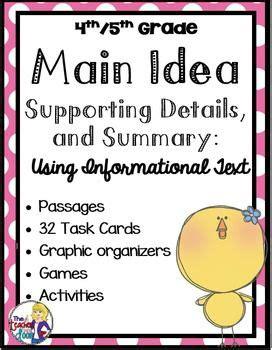 idea idea activity for 4th and 5th grades