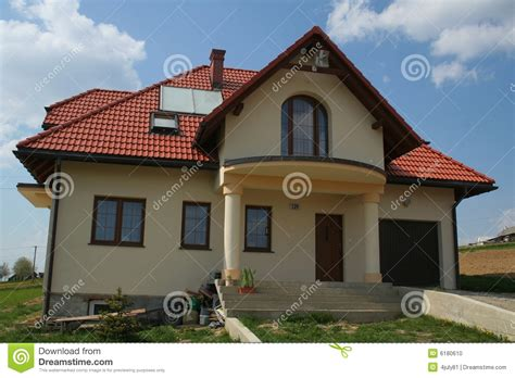 Haus Rotes Dach by House With Roof Stock Photo Image 6180610