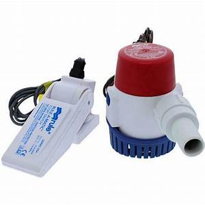Rule 360gph 12v Bilge Water Pump With Float Switch Kit