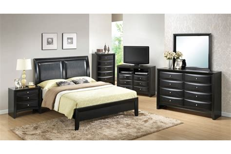 bedroom sets lauran black full size bedroom set