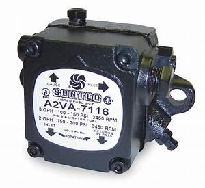 Suntec Oil Burner Pump  Number Of Stages 1  3 Gph  Adjustable Psi Range 100 To 150  3450 Rpm