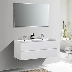 Meuble Salle De Bain Peu Profond : meuble de salle de bain double vasque alicia 120 cm ~ Edinachiropracticcenter.com Idées de Décoration