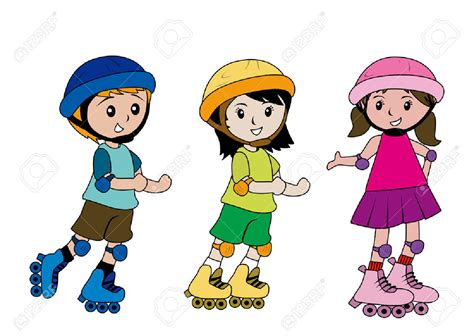 Kids skating clipart - Clipart Collection | Children girl ...