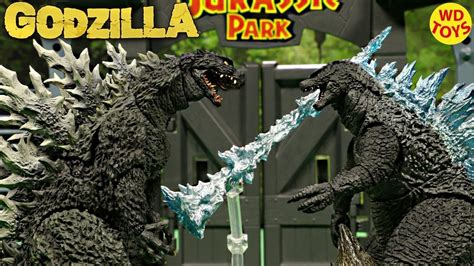 Godzilla is riding on bus rollers. New S.H. Monsterarts Spit Fire Godzilla 2014 Godzilla Vs ...