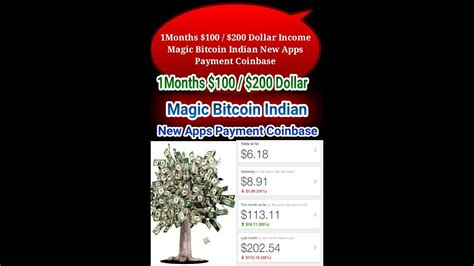 Conversion from united states dollar (usd) to bitcoin (btc). 1Months $100 / $200 Dollar Income Magic Bitcoin Indian New Apps Payment Coinbase - YouTube