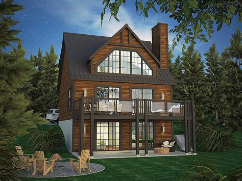 Vacation Home Plan With Incredible Rear