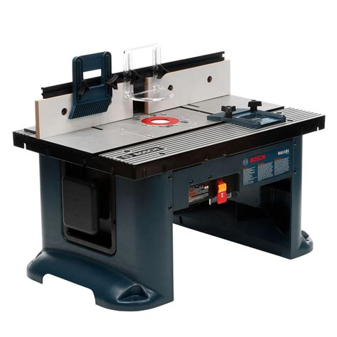router table and router bosch 15 amp corded 27 in x 18 in aluminum top benchtop