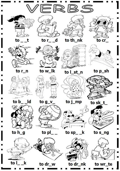 action verbs coloring sheets coloring page