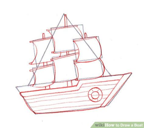 How To Draw A Boat Sailing by How To Draw A Boat Wikihow