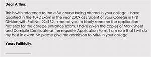 Letter For Application For Loan Writing A College Admission Application Letter In Corrent