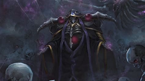 wallpaper king overlord anime art