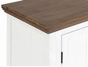 Sideboard Weiß Braun : sideboard olympia akazie massiv wei braun geb rstet lackiert ~ Whattoseeinmadrid.com Haus und Dekorationen