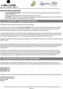 Leggett And Platt Canada 8409300 Helios Tc Wireless