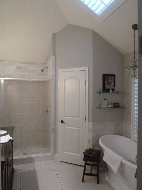 master bath remodel  sherwin williams repose gray