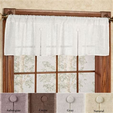 Box Valance For Sale by Shannon Semi Sheer Box Pleated Window Valance