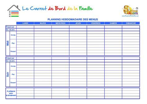 organigramme cuisine collective modele planning hebdomadaire gratuit imprimer ccmr