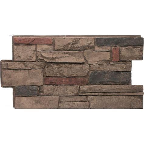 Urestone Ledgestone #25 Mocha 24 In X 48 In Stone Veneer