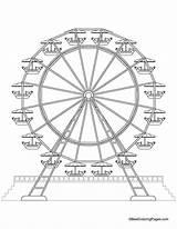 Ferris Wheel Coloring Pages Printable Park Wheels Drawing Medicine Sheets Amusement Theme Bestcoloringpages Fair Drawings Thumbprint Craft Carnival Getcolorings Fun sketch template