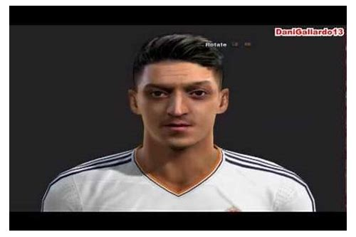 download face ozil terbaru di pes 2013