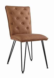 Studded, Back, Chair, With, Hair, Pin, Legs, -, Tan, -, Dining, Chairs