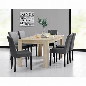 Table Chene Clair : table 160 cm en bois avec 6 chaises pour tables a 492 09 ~ Teatrodelosmanantiales.com Idées de Décoration