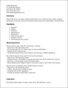 cdl class a truck driver resume professional class b cdl driver templates to showcase your talent myperfectresume