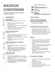 Sample Modern Resume Format