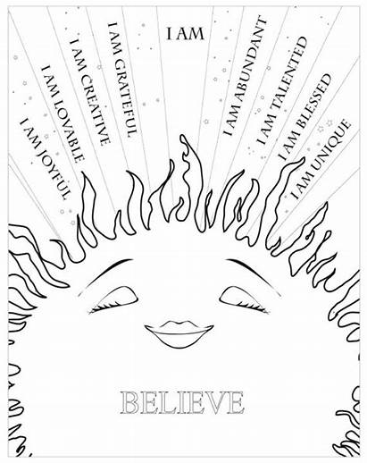 Coloring Self Pages Esteem Respect Printable Getcolorings