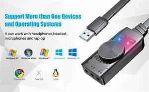 Usb Sound Card Adapter Bengoo External Audio Adapter