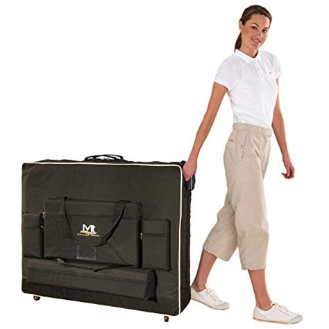 portable massage table carry bag mt massage tables 30 quot wheeled carrying case bag with