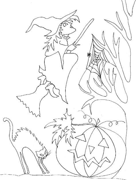 balai pour toile d araignee coloriage sorci 232 re au balais et toile d araign 233 e tete a modeler