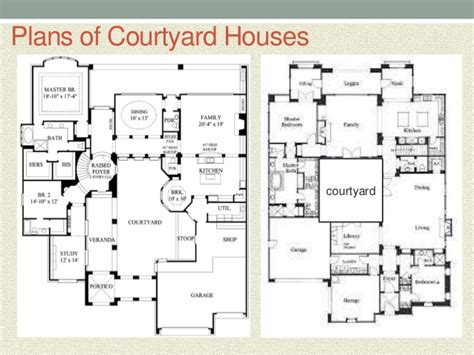 style home plans with courtyard courtyard house style