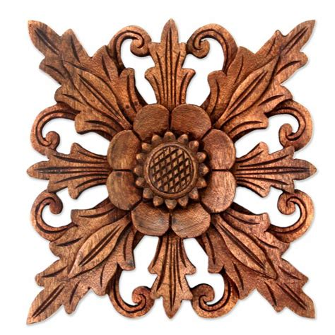 Get free shipping on qualified wall art or buy online pick up in store today in the home decor department. Bloomsbury Market 3 Piece Hand Carved Wood Floral Relief Panels Wall Décor Set | Wayfair