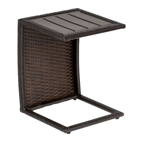 hton bay table l outdoor patio side table hton bay brown all weather