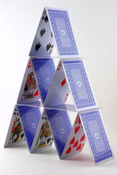 card house vertical closeup   card house  card