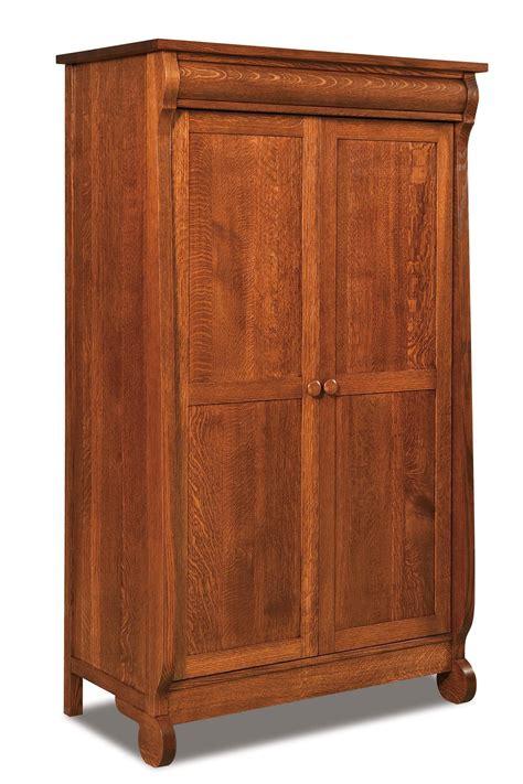 classic sleigh wardrobe armoire  dutchcrafters