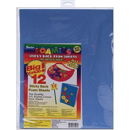 darice foamies sticky back foam sheets fashion colors 12 pkg walmart com